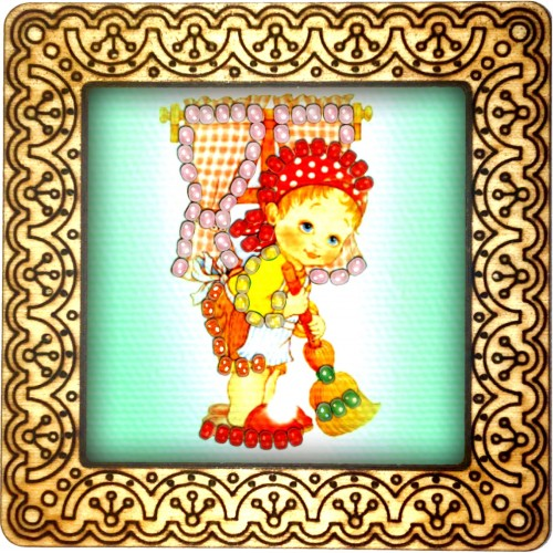 Magnet bead embroidery kit «M-0095 Cleaning House»