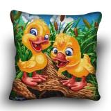 Pillow cross stitch kit «H-0032 Chatty Chicks»
