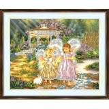 Bead embroidery kit «A-0047 Sister Angels»