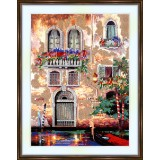 Bead embroidery kit «A-0058 Door and Windows of Venice»