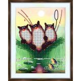 Bead embroidery kit «A-0088 Cats Anticipating Dinner»