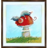 Bead embroidery kit «A-0098 Mushroom Love»