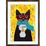 Bead embroidery kit «A-0158 The Red Glasses»