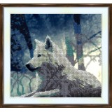 Bead embroidery kit «A-0168 White Wolf»