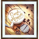 Bead embroidery kit «A-0238 Good Morning Coffee»