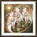 Bead embroidery kit «A-0248 Toes in the Pond»