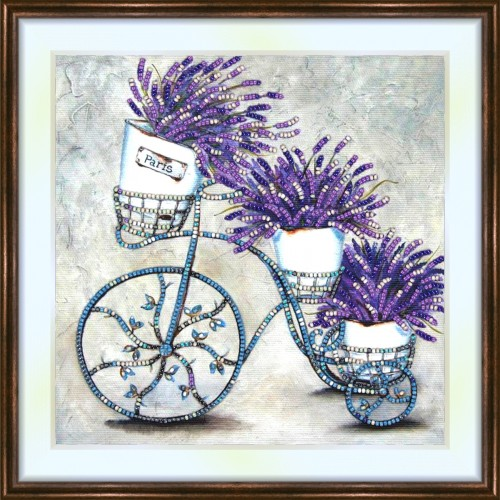Bead embroidery kit «A-0258 Vintage Lavender»