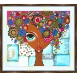 Bead embroidery kit «A-0329 Flowers in Her Hair 2»