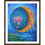 Bead embroidery kit «A-0503 Moonlight on the Lotus»