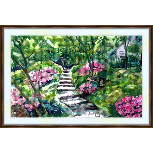 Bead embroidery kit «K-0017 The Pathway»