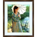 Bead embroidery kit «K-0057 Girl at the Lake»