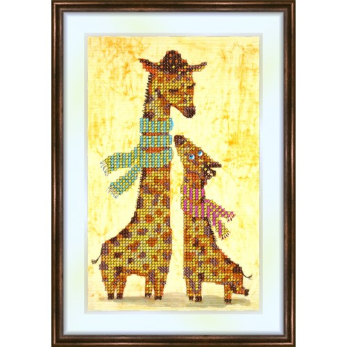 Bead embroidery kit «K-0067 Young Giraffe Neck Stretch»