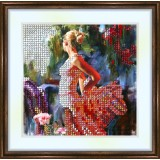 Bead embroidery kit «K-0107 Dancing in the Garden»