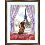 Bead embroidery kit «K-0127 Paris View of the Tower»