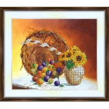 Bead embroidery kit «K-0137 Fruit 'n Sunflowers»