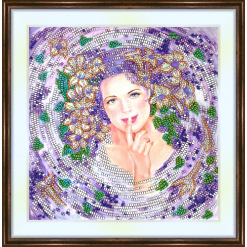 Bead embroidery kit «K-0158 Woman Wreathed in Spring»