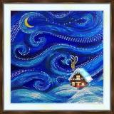 Bead embroidery kit «K-0208 Winter Night»
