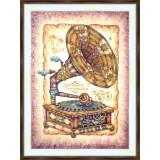 Bead embroidery kit «K-0218 Steampunk Grammofon»