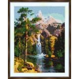 Cross stitch kit «S-0021 Mountain Waterfall»