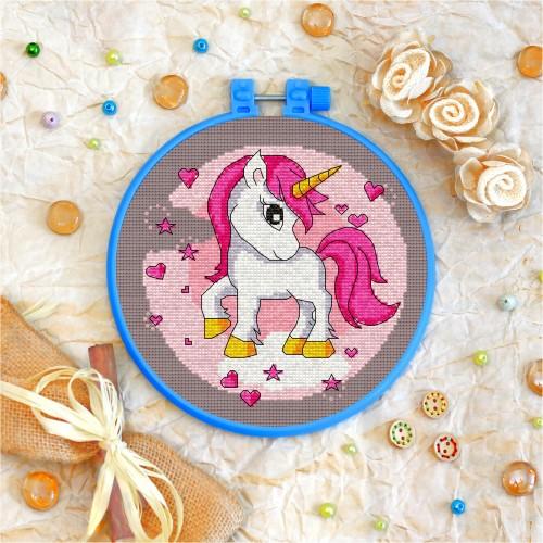 Cross stitch kit «T-0003 Baby Unicorn»