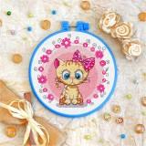 Cross stitch kit «T-0013 Miss Kitty»