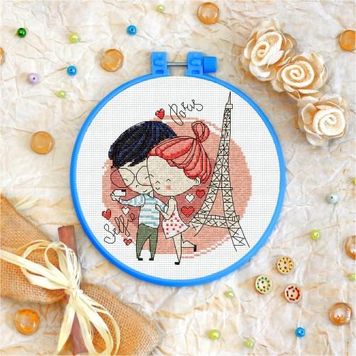 Cross stitch kit «T-0023 The Selfie in Paris»