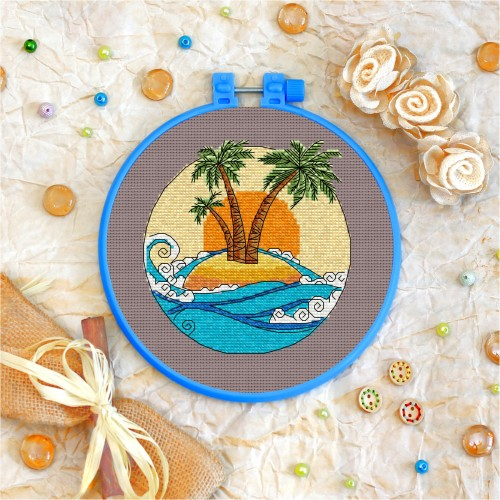 Cross stitch kit «T-0033 Tropical Island»