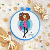 Cross stitch kit «T-0113 I Love Shopping»