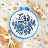 Cross stitch kit «T-0143 Blue Flowers»