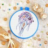 Cross stitch kit «T-0199 Mandala Jellyfish»