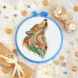 Cross stitch kit «T-0209 Mandala Wolf»