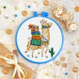 Cross stitch kit «T-0234 Funny Llama»
