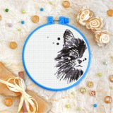 Cross stitch kit «T-0328 Curious Black Cat»