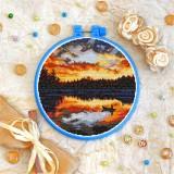 Cross stitch kit «T-0365 Orange Sunset»