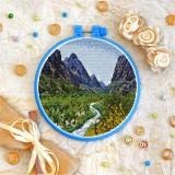 Cross stitch kit «T-0396 River Landscape»
