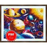 Cross stitch pattern «pdf-S-0018 Solar System»