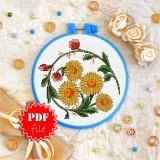 Cross stitch pattern «pdf-T-0008 Sunflowers»