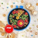 Cross stitch pattern «pdf-T-0018 Night Blooming Flowers»