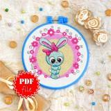 Cross stitch pattern «pdf-T-0028 Miss Bunny»