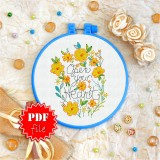Cross stitch pattern «pdf-T-0088 Open Your Heart»
