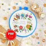 Cross stitch pattern «pdf-T-0098 Happy Birthday 8»