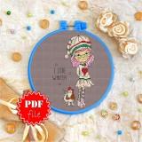 Cross stitch pattern «pdf-T-0118 I Love Winter»