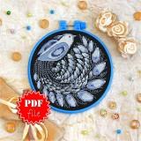 Cross stitch pattern «pdf-T-0138 Night Bird»
