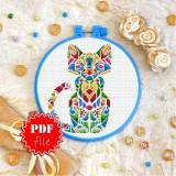 Cross stitch pattern «pdf-T-0191 Mandala Kitty»