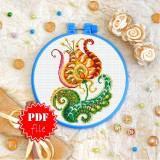 Cross stitch pattern «pdf-T-0201 Mandala Flower»