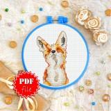 Cross stitch pattern «pdf-T-0236 Baby Fox»