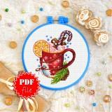 Cross stitch pattern «pdf-T-0267 Christmas Coffee»