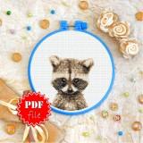 Cross stitch pattern «pdf-T-0289 Baby Raccoon»