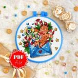 Cross stitch pattern «pdf-T-0290 Ginger Man»