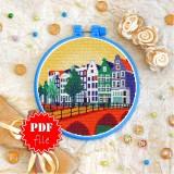 Cross stitch pattern «pdf-T-0407 Amsterdam»